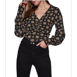 Black combo blouse
